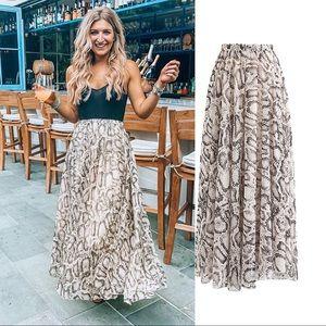 Chiffon Maxi Skirt.  New w/ Tags 🏷